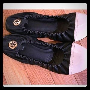 Authentic Tory Burch navy flats